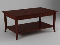 3d model table coffee wood