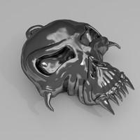 skull amulet 3d 3ds
