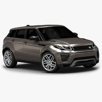3d 2016 range rover evoque model
