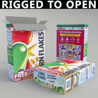 breakfast cereal box 3d obj