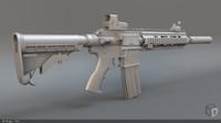 hk416 rifle 3d max