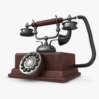 maya realistic antique telephone