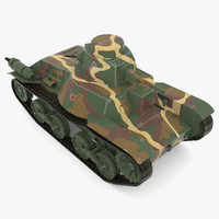 3d japanese tank type 95 model
