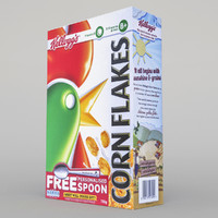 3d max kelloggs cereal box