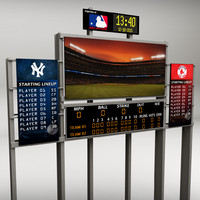 obj stadium baseball score board