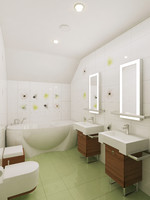 3d model of bath bathroom interior
