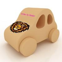 3d wooden car
