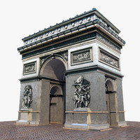 3d arc triomphe model
