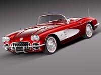 3d model chevrolet corvette 1958