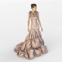 3d evening dress model