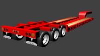 3d trailer lowboy model