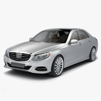 3d model of s-class sedan 2015