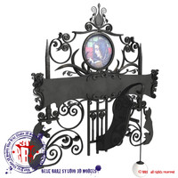 wrought iron sign board 3d 3ds