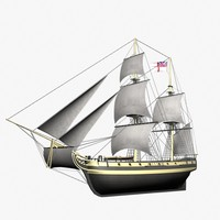 ketch - bombardment ship 3d lwo