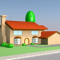 3d model simpson house cartoon