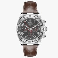 Rolex Daytona Grey Dial leather Strap