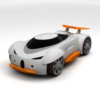 mini racer 3d model