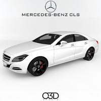 3d mercedes-benz cls model