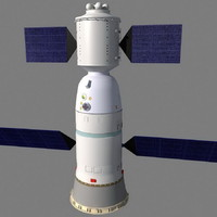 chinese spacecraft 3d model