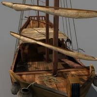 3d model of old war ship