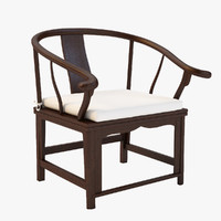 antique chinese chair 3d max