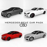 3d model mercedes-benz sedan car pack