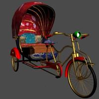 3d rickshaw