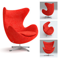 realsize egg chair 3d max