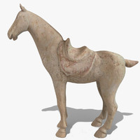 figurine horse statuettes 3d obj