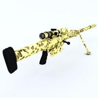anzio 20mm vulcan rifle 3d model
