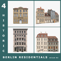 3d 4 historic berlin residentials model