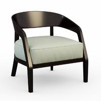 armchair alba porada 3d model