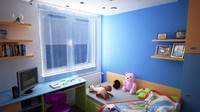 apartment interior kidroom 3d max