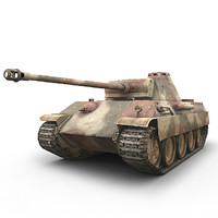 german sdkfz panther panzer 3d model