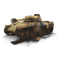 ww2 german sdkfz panther panzer 3d model