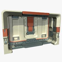 3ds max science fiction door