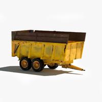 vaia tractor trailer 3d model