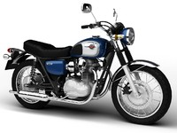 kawasaki w800 2014 motorcycle 3d model