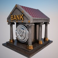 3d max cartoon bank toon