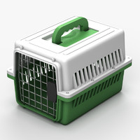3d model pet carrier cage