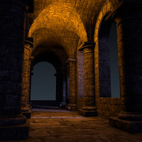 castle interior set foundation 3d blend