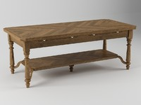 3ds max table coffee wood