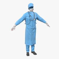 surgeon dress blood 9 3d model