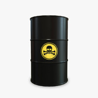 3d model barrel toxic