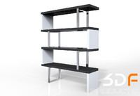 bookcase book case 3d model