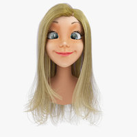 Rigged Cartoon Woman Head A