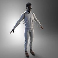 3d model sportsman clothes