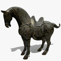 3dsmax figurine horse statuettes