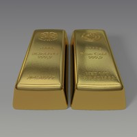 3d model of gold bar