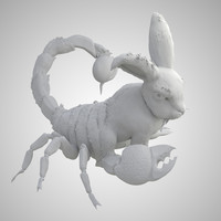 rabbit scorpion obj free